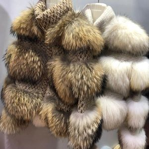 Stunning crop real fur coat